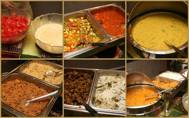 Indian vegetarian buffet at Annalakshmi