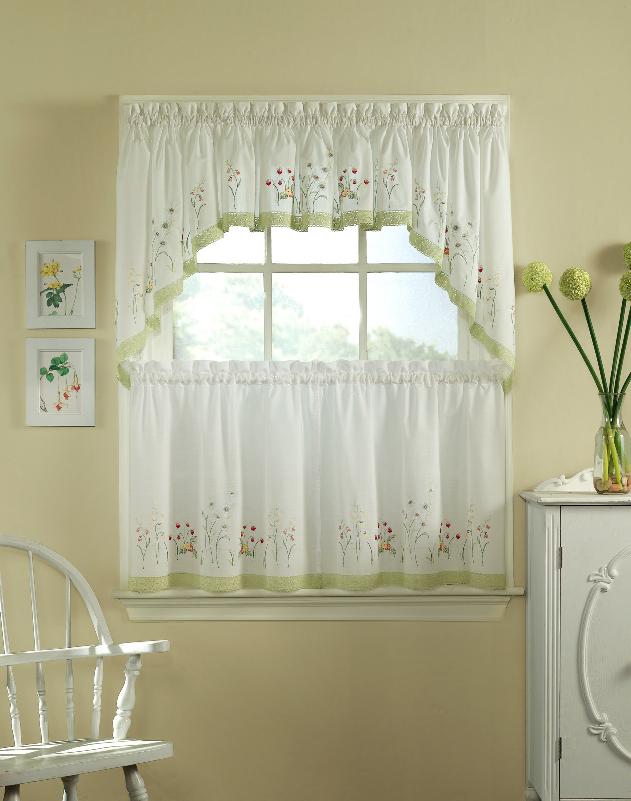 Kitchen Half Window Curtains With Beautiful Style