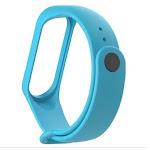 Silicone Wrist Strap for Xiaomi Mi Band 3 Bracelet Strap Colorful Strap Wristband Smart Band Mi Band 3 Light Blue