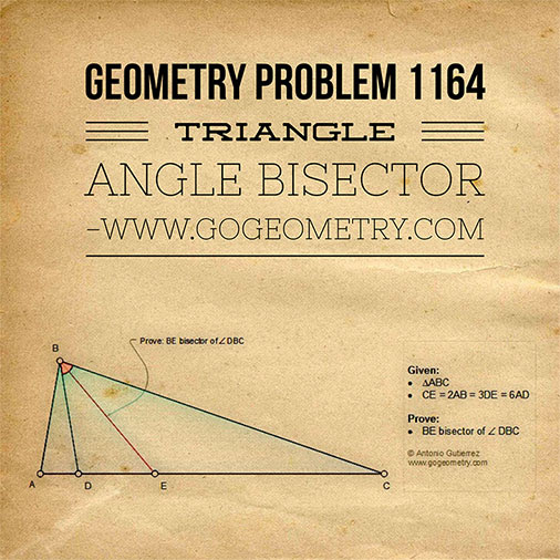 Geometric Art of Problem 1164, Triangle, Angle Bisector, iPad Apps, Typography