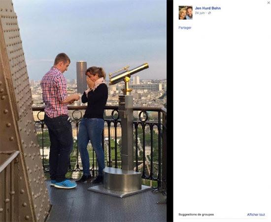 Noivado na Torre Eiffel