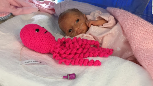 Why preemies are cuddling crocheted octopi