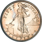 50 Centavos (U.S. Administration) – reverse