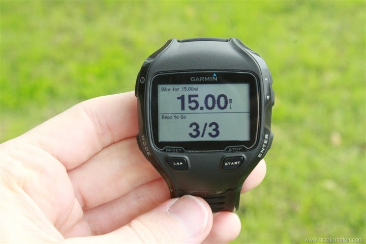 Garmin FR910XT Interval Workout