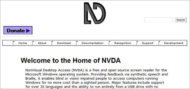NVDA free screen reader