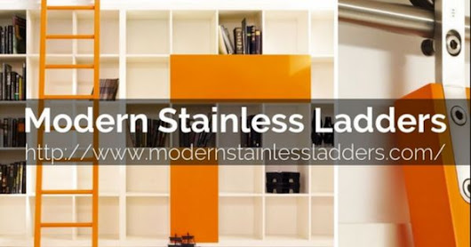 Get rolling with a sliding library ladder from Modern Stainless Ladders. Modern Stainless Ladders carries a full line of MWE ladders. #libraryladde… | Pinterest