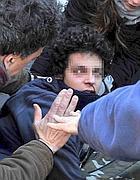 Cristiano Ciarrocchi subito dopo l'aggressione