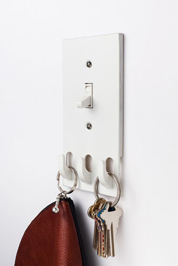 Switchhooks: light switch with key hooks - modern - hooks and ...