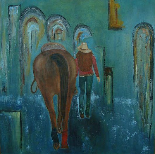 A Girl And Her Horse by Judy Jones