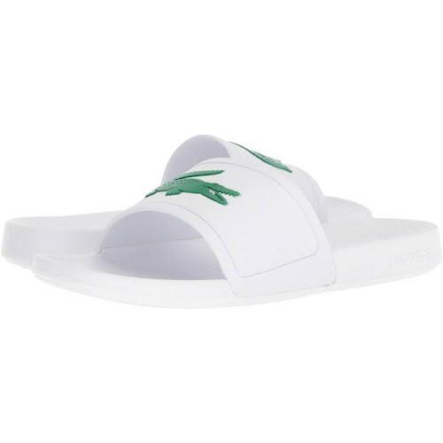 9c84a808abb9 Lacoste Men s Fraisier 318 1 P Slide Sandal 736CAM0070-WHT GREEN ...