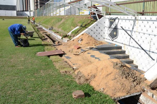 As obras do TAC continuam acontecendo no estádio Frasqueirão