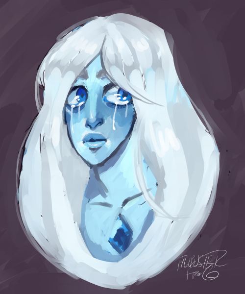 Anonymous said: May I have a Blue Diamond ? Answer: a 15 minute painting just for you anon