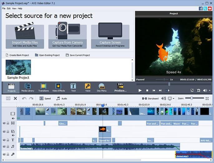 برنامج AVS Video Editor لتعديل الفيديو واضافة التأثيرات