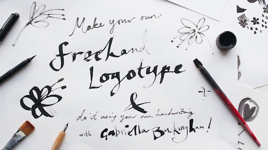 Make your own logotype using hand lettering and vectorise it for use in print and social media | Gabriella Buckingham | Skillshare