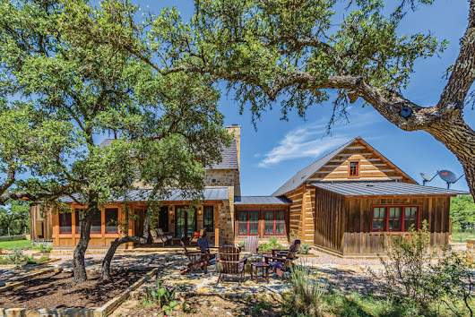 A Unique Texas Log-and-Stone Hybrid Homestead