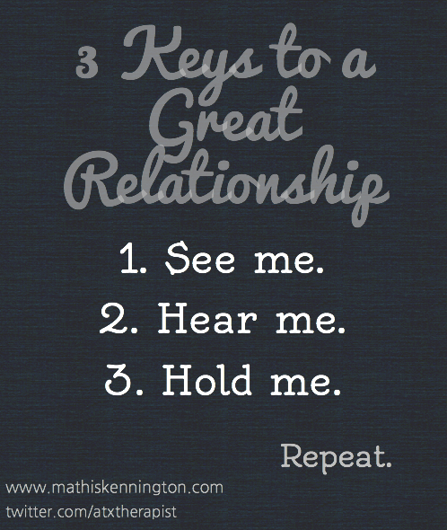 3 Keys to a Great Relationship