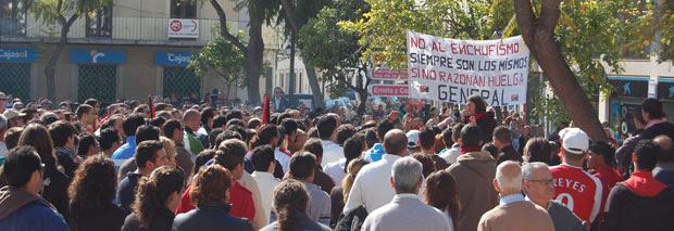 Estalla la huelga general… en un pueblo de Sevilla