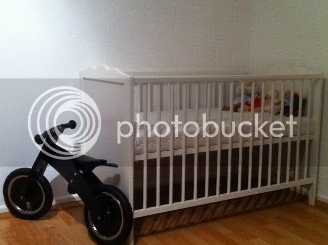 Babybett Leksvik + Laufrad