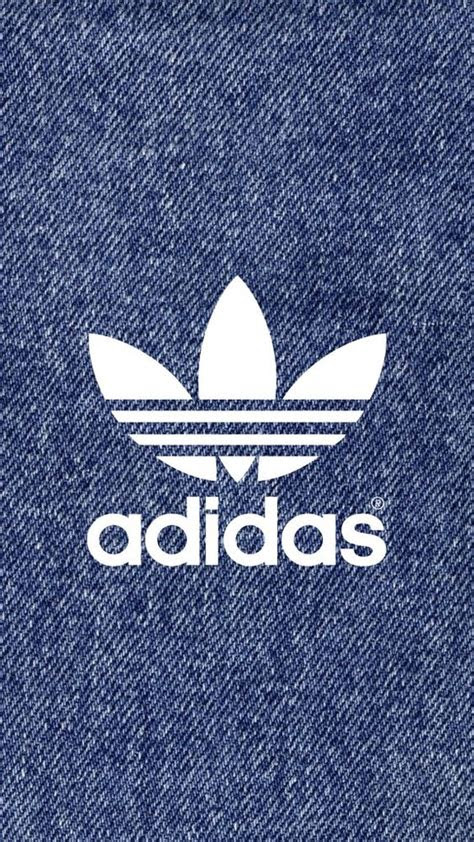 adidas logo denim pattern iphone wallpaper wallpers