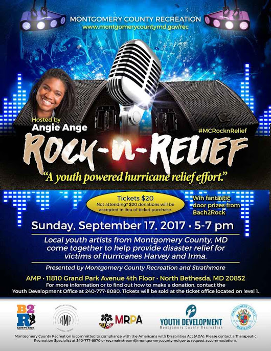 B2R Bands Performing at Hurricane Relief Concert in Bethesda | Bach to Rock
