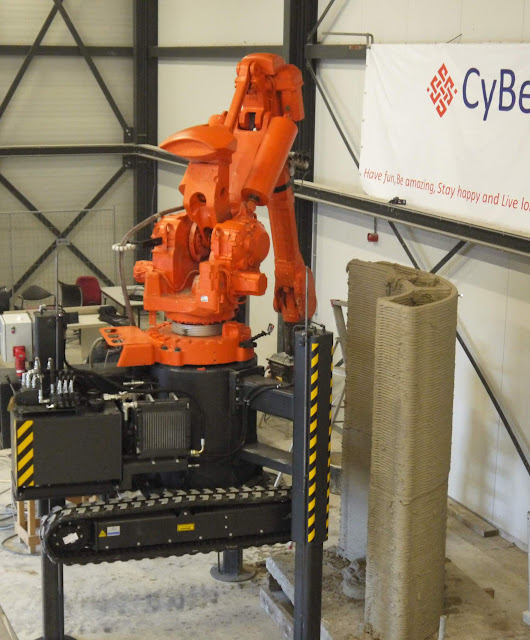 3DPI spoke with CyBe about their concrete 3D printer on-wheels