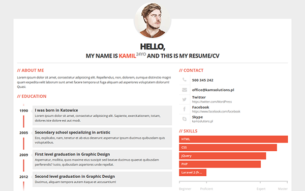 bootstrap 3 gallery  download resumes