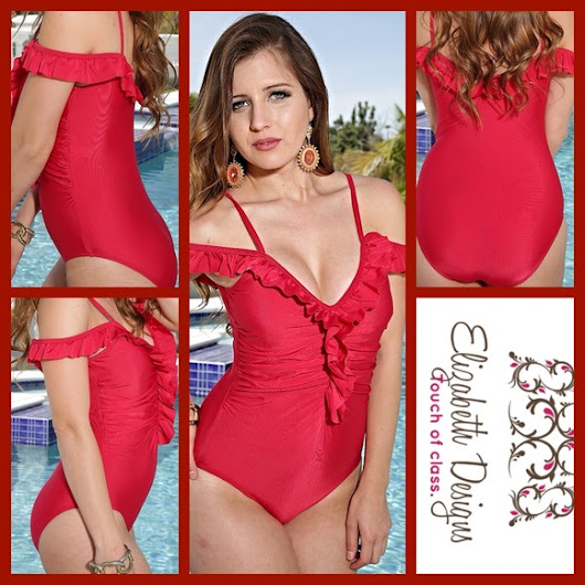 73% off Elizabeth Design  Other - BRAND NEW RUFFLE ONE PIECE from Carrie's closet on Poshmark