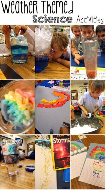 Weather themed activities that work in your classroom!  Our first unit is earth science, and the weather part is always so hard.  Maybe these will help.