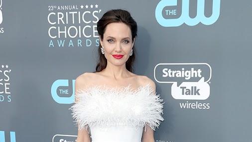 Angelina Jolie at Critics Choice Awards 2018 #celebs #celebrities #entertainment #awards
