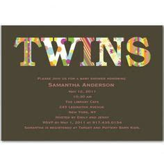 13 Best Twin Baby Shower Invitations images in 2012   Baby