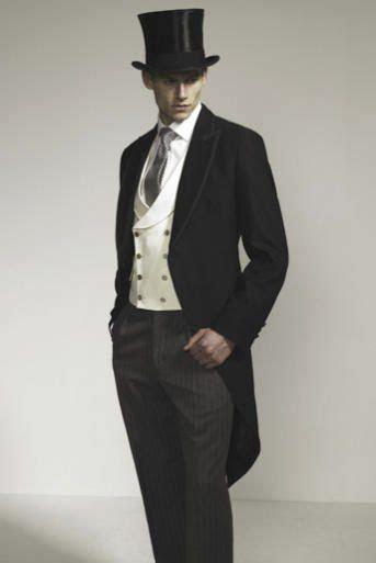 english mens dress cloths top hat  coat tails
