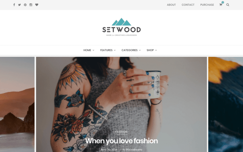Setwood blogging theme