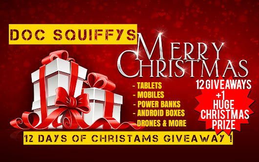 The Doc Squiffys 12 Days of Christmas Giveaway !! ~ DocSquiffy.com