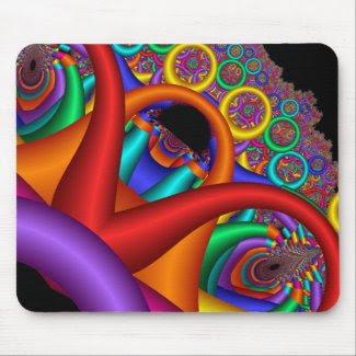 Rainbow of Rings zazzle_mousepad