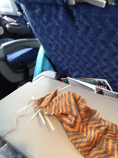 Knitting on airplanes