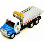International Police Rollback Tow Truck, Blue and White - Showcasts 2106BKG - 5.25 Inch Scale Diecast Model Replica