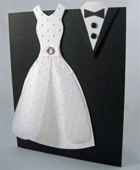 Adorable wedding card!   Black and White   Wedding cards