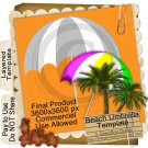 Beach Umbrella Template