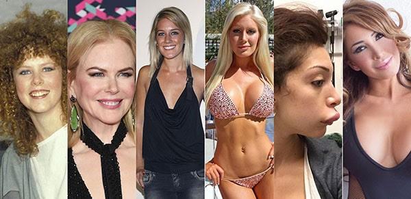 Nicole Kidman, Heidi Montag, Farrah Abraham (Foto: Getty Images e Reprodução)