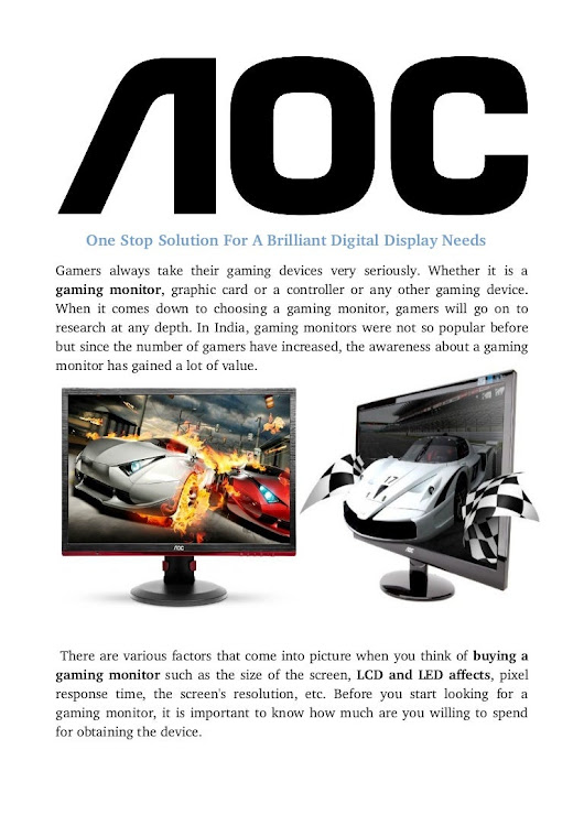 Aoc : Gaming Monitor In india