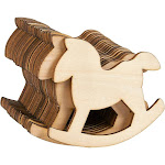 Unfinished Wood Cutout - 24-Pack Horse Shaped Wood Pieces for Wooden Craft