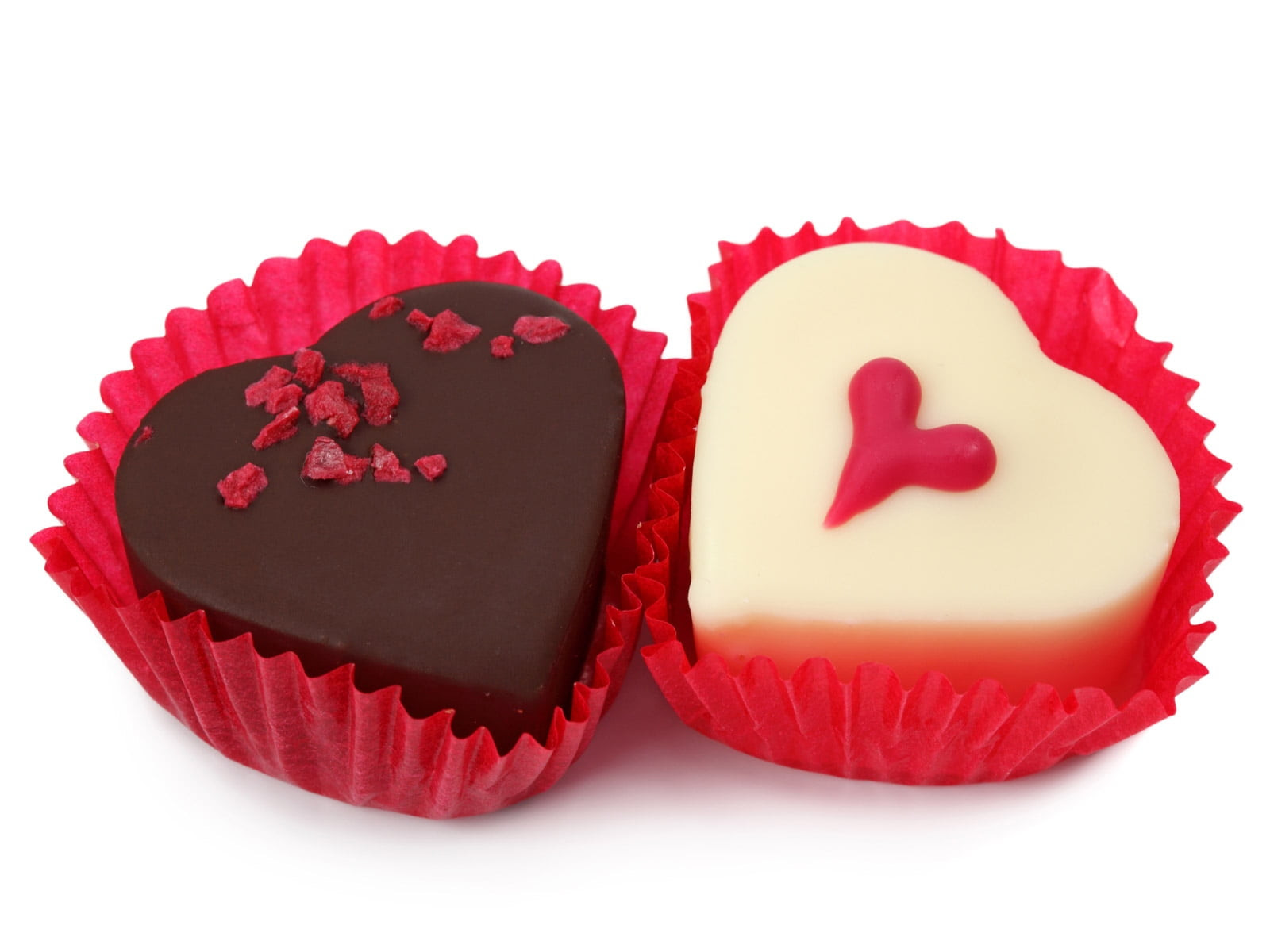 Two Heart Shape Chocolates Wallpapers Hd Wallpapers
