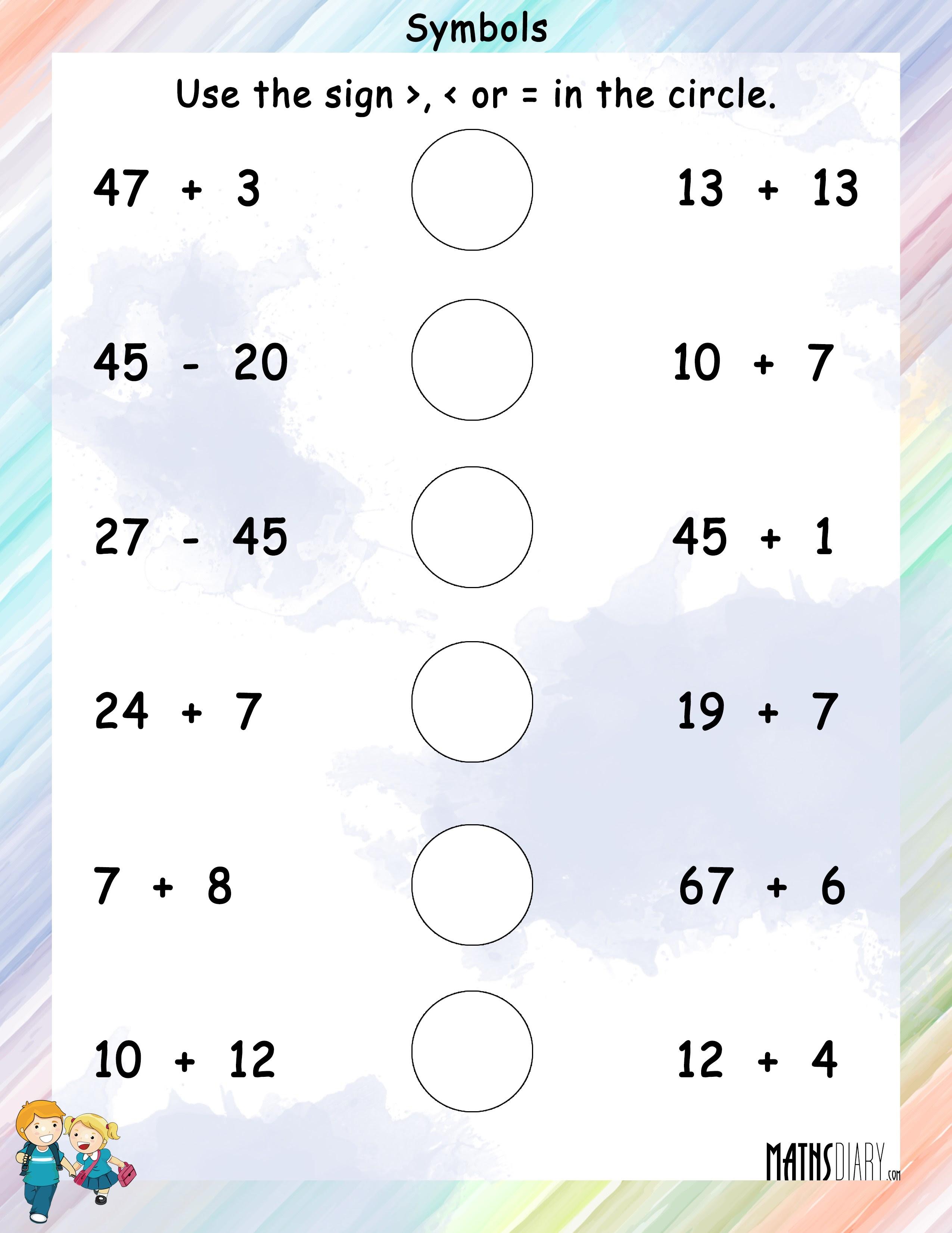 Symbols worksheet 3
