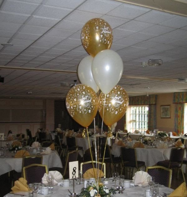 50th Birthday Table Decorations Centerpieces