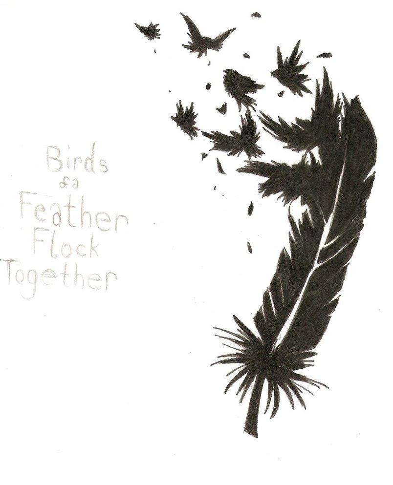 Tattoo Center Feather Into Birds Tattoo Tattoomagz