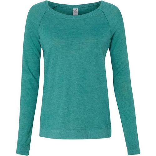 Alternative Women's Eco Jersey Locker Room Pullover-ECO True VIRIDIAN-L