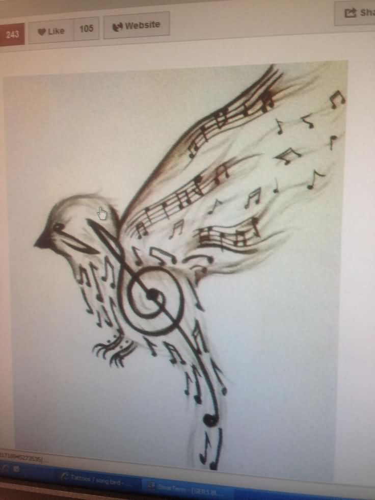Music Tattoo Images Designs