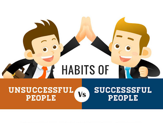 Habits Of Successful Vs Unsuccessful People [Infographic]