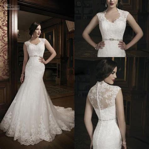 2014 New Style High Neck Mermaid Wedding Dresses Bridal