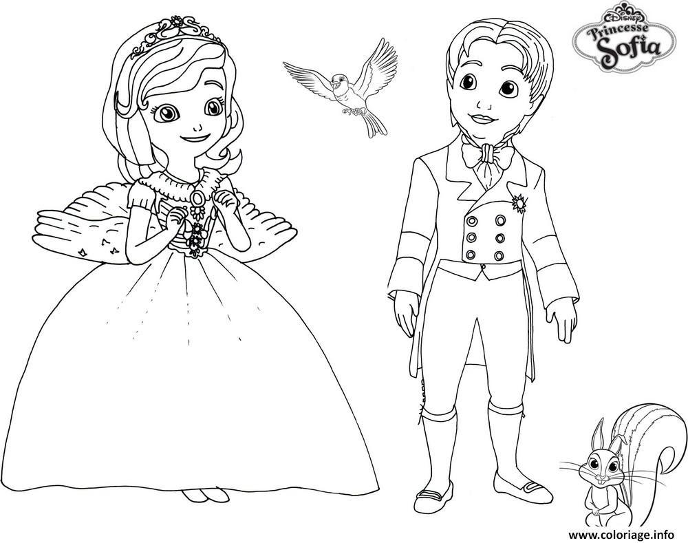 Coloriage Princesse Sofia Et Prince James Dessin  Imprimer